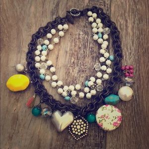 Plunder Brand Steampunk Boho Abstract Necklace